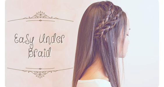 Summer Hairstyles: Easy Under Braid